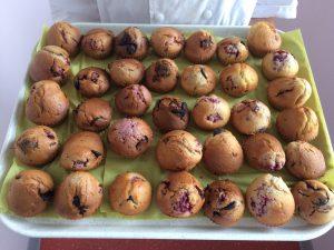 Muffins framboise chocolat